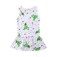 Kleinkind Baby Mädchen Kleid Sleeveless Prinzessin Vertuschung Dinosaurier Kleider Kleidung Badebekleidung Sommerkleid Sommer Holiday Beachwear Sarongs