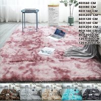 Carpets Area Rugs And Home Living Room Tie Dyeing Fluffy Shag Fur Rug Plush Soft Anti-slip Floor Mat Bedroom Decorative Carpet
