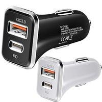 빠른 충전 QC 3.0 18W USB 유형 C 자동차 충전기 삼성 S10 아이폰 11 x XS 8 PD 충전기