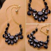 Fashion Luxury Multicolour Acrylic Gem Drop Pendant Style Banquet Decoration Necklace Chokers