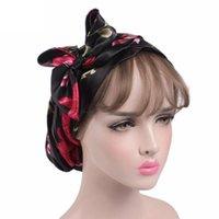 Beanie / Crânio Tampas Duche Daily Satin Mulheres Bonnet Turban Night Sleep Bath Party Acessórios Long Tigtail Fashion Headscarf Headscarf Cabeça de Cabelo