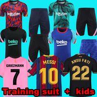 Barcelona Jersey Jersey Barca 20 21 22 Camiseta de Futbol Ansu Fati 2021 2022 Messi Grisezmann F.De Jong Maillots Camisa de Futebol Treinamento Terno Kit Kit uniformes