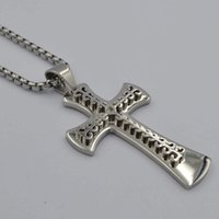 Pendant Necklaces SUNNERLEES Stainless Steel Jesus Christ Cross Necklace Beads Link Chain Silver Color For Men SP117