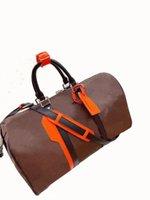 Duffel Bags 2021 Designer Bagagem Homens Mulheres de Alta Qualidade PU Carta Floral 45cm Moda marca bolsas de lona Adequado para entrega rápida de viagem ao ar livre
