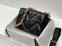 Mujer moda diseño de lujo cuero cuero cadena bolsa de costura hilo nube bolsas de almohada estilo dama estilo clamshell paquete simple negro hombro paquetes arte sólido color