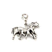 102 قطع العتيقة سبائك الفضة مزيج الحصان العائمة جراد البحر المشابك سحر المعلقات لصنع المجوهرات