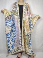 민족 의류 할인 아프리카 패션 캐주얼 보헤미안 실크 살포기 코트 여성 태국 여름 수영복 긴 카디건 레이디