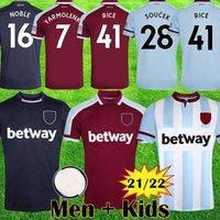Erkekler Çocuklar 21 22 Lingard Batı Futbol Formaları 2021 2022 Pirinç Jambon Whu FC Vlasic Futbol Gömlek Kitleri Lanzini Antonio Noble Birleşik Kral Ekipmanları Tops