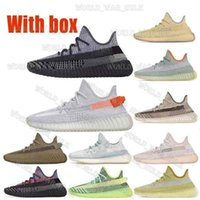 Top Quality Kanye West V2 Zebra Yeezel Reflexivo Running Shoes Yechheil Nuvem Branco Belgua Terra Estático Cinçar Mans Womens Moda Sneakers 36-45