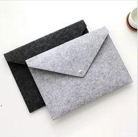 Pasta de arquivo de feltro Documentos Documentos Envelope Luxo Escritório Durável Pasta Documento Saco De Papel Papel Portfolio Case Carta Envelope DWB10499