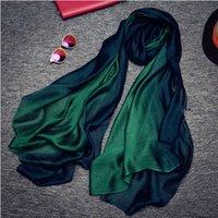 2019 Moda de verano y otoño mujeres nuevas bufandas salvajes de seda femenino elegante fiesta casual bufanda larga 4 colores