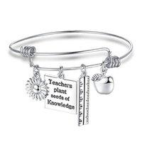 Очаровательные браслеты Учителя Браслет Цепь Браслет Любовь Сердце Женщины Мужчины Подарки для Ювелирных изделий Представлен Учитель
