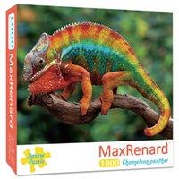Пазлы Maxranard 1000 штуки для взрослых головоломки Jigsaw 48 * 69 см Сборка хамелеона Фотографии животных головоломки игрушки для взрослых Игры развивающие игрушки для детей