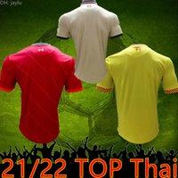 2021 2022 2122 Futbol Formaları Ev Kırmızı Uzakta Beyaz 3rd Sarı Polo Top Tayland Mohamed Jersey Futbol Gömlek Erkekler