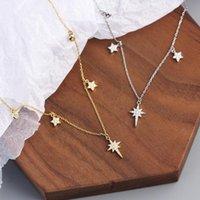 Cadenas exquisitas colgantes colgantes collares para mujeres brillando Big Dipper Forma 925 Cadena de plata esterlina Joyería Fina Regalos