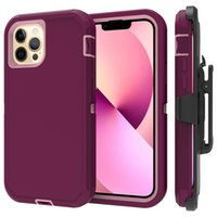 Holster Case for iPhone 13 pro max 3-Layer Full Body Life-Time Protection, Protective Heavy Duty & Carrying Belt Clip iphone13 mini cover