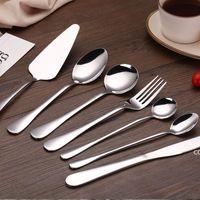 Нержавеющая сталь нож вилка ложка серебряная посуда продовольственная роскошная посуда набор подарок посудомоечная машина безопасный домашний столовые приборы DHB8603
