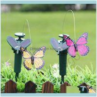 Decorations Patio, Lawn Home & Gardensolar Power Dancing Butterflies Fluttering Vibration Fly Hummingbird Flying Birds Garden Yard Decoratio