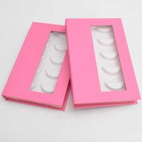 Wholesale 5pairs of false lash book custom your private eyelash packaging box fake 3D mink lashes strip packing case empty
