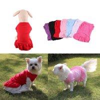 Mini Vestidos Cães Camiseta Primavera Pet Colete Sueter Teddy Pug Pug Bichon Cachorrinho Roupa DB747
