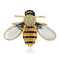 Fashion Design Insect Series Brooch Pin Women Delicate Little Bee Brooches Crystal Rhinestone Jewelry Sexy Gift