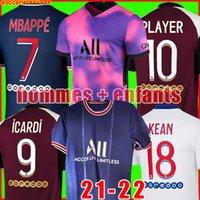 축구 키트 드 Maillots 20 21 PSG 축구 유니폼 2021 2020 MBAPPE ICARDI 마르 키 저지 셔츠 남자 아이 타이츠 드 발 카바 니를 설정 넷째 넷째