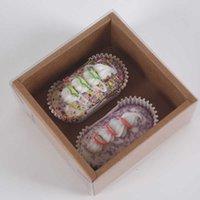 Подарочные прозрачные печенье Pastries Vintage Kraft Paper подарочная коробка для выпечки Удобная практичная кухня ресторана