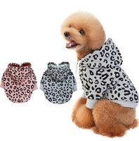 Fashion Dog Hoodie Sweater Clothes New Luxury Fleece Designer Leopard Pet Colthes