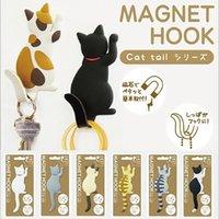 Kitty katt svans kylskåpmagneter krok magnetiska klistermärken kylskåp härlig kattunge söt djur prydnad barn hem kök dekoration
