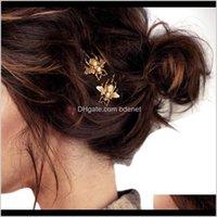 مقاطع الساحرة الأزياء 2PCS نمط فتاة رائعة الذهب النحل دبوس الشعر الجانب كليب اكسسوارات للشعر Novdot11 Gzedj s4byg