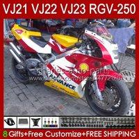 Cuerpo para Suzuki RGV-250 Panel RGV250 SAPC VJ22 RVG250 VJ 22 20HC.31 RGVT-250 90 91 92 93 94 95 96 RGVT RGV 250CC 250 CC 1990 1991 1992 1993 1994 1995 1996 Carreying rojo amarillo BLK