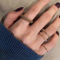 Jóias artesanais por atacado quatro - anel de peça arroz beads índice anel de dedo acrílico -based resina crystal beads anel knuckle