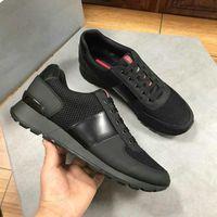 Match Race Prax 01 Sneaker Re-Nylon Stoff Schwarz Leder Trainer Schuhe Herren Luxurys Designer Sneakers Screen-Printed Turned Niedrig Top Runner Mesh Casual Shoe