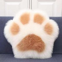 Decorative Pillow lovely cat claw pillow bear cushion sofa family plush toys bedside chair back