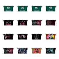 quid Game Coin Purse Cosplay Mask Netflix Jeong-jae Lee Wallet Cosmetic Makeup Bag Organizer Coin Purse Pencil Case DHL