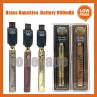 Brass Knuckles Battery Preheating Variable Voltage 900mAh eCig Battery Pen For BK 510 Thraed Thick Oil Cartridge