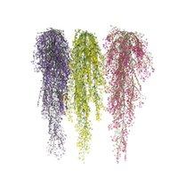Yapay Bitkiler Ev Düğün Parti Dekor Yeşil Bitki Ivy Yaprak Çiçek Plastik Garland Asma Çiçekler Duvar Dekoratif Çelenkler