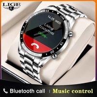 Designer Uhr Marke Uhren Luxusuhr Bildschirm Sport Fitness Wasserdichte Bluetooth-Anruf für Android Smart Herren