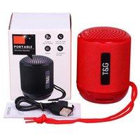 TG129 haut-parleur Bluetooth portable Mini Subwoofers sans fil Musique Lecteur MP3 FM Radio TF Carte de rangement USB Enceintes de plein air créatives TG 129 avec boîte de vente au détail