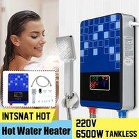6500W 220V chauffe-eau électrique chauffant sans réservoir de la chaudière instantanée de salle de bain de douche SET Thermostat Safe Intelligent automatiquement T200612