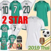 Campeón Maillot Algerie NUEVO 2 Estrellas Jersey de fútbol 2019 Hogar de Mahrez Bounedjah Feghouli Bennacer Atal Argelia Maillot de Pie