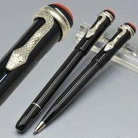 Pluma famosa de Pens Heritage Series Red Classic Black Resin Edition Special Ball Pen con clip de serpiente único