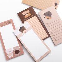 50 folhas Bonito Memo Pad Dos Desenhos animados Urso Mensagem Notas Decorativo Bloco de Notas Para Fazer Lista para Estudante Papelaria Memorando Folha Oferta de Escritório