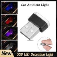 7 Цветов Мини USB Light Leed Modeling Light Car Ambient Light Neon Интерьерные огни