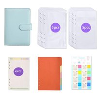 Pu Leather Notebook Binder Budget Planner Organizer Cash Envelope System With Filler Financial Paper And Label Sticker Notepads
