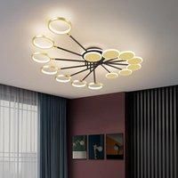 Ceiling Lights Design Led Lamp Chandelier Modern Home Living Room Dining Lobby Kitchen Black And Gold
