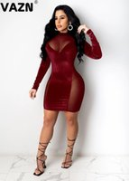 Arrival Sexy Club Patchwork Lace Top Young Sweet Fashion Full Sleeve Women Thin High Waist Mini Dress Casual Dresses