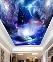 Wallpapers 3d Ceiling Mural Po Wallpaper The Stars And Sky Of Universe Home Decor Living Room For Walls In Rolls