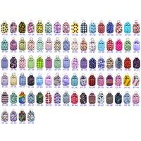 87 Styles 30ml Hand Sanitizer Holder Neoprene Keychain Mini Bottle Cover White Color Rectangle Shape Chapstick Holder EEA1641