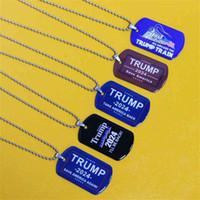 2024 Trump Tornerò Charms Charms USA Bandiera Pendente Unisex Adulto Bambini Adulto Collana in acciaio inox Army card US Presidenziale Elezione 5colore G50Dev1
